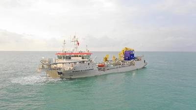 Afonso de Albuquerque, the world's first EU Stage V dredger, was delivered by Keppel Offshore & Marine (Photo: Keppel Offshore & Marine)