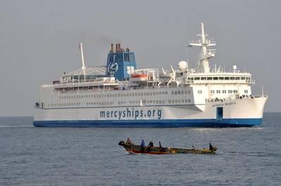 Africa Mercy at sea (Photo: Mercy Ships)