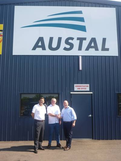 Agreement Handshake: Photo credit Austal