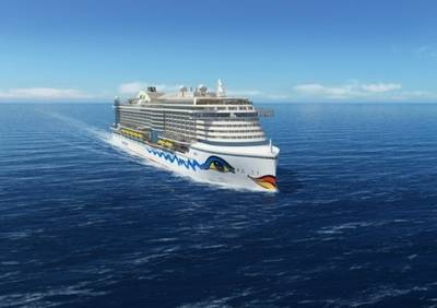 AIDA's new cruise ship representation: Image courtesy of TGE Marine