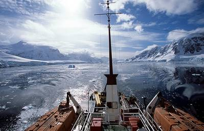Akademik Shokalskiy: Photo courtesy of owners/charterers Expeditions Online