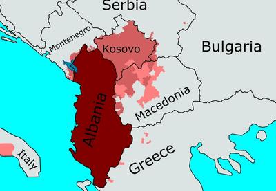 Albania location: Image CCL Wiki