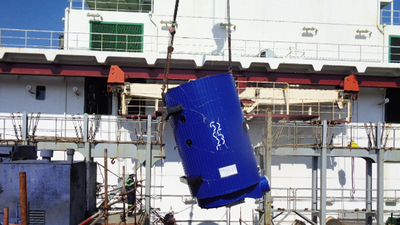 Alfa Laval Aalborg boiler to be installed on a Seaspan container vessel as part of a steam solution to support the use of sulphur-compliant fuel  (Photo: Alfa Laval)