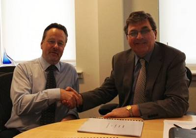 Allan Muir (Left) – Teekay Procurement Manager and Rodger Perks (Right), MD of Telemar (UK) Ltd signed and confirmed the agreement May 1, 2013.