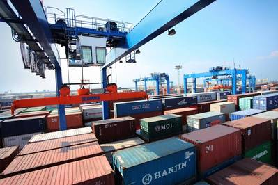 all-electric rubber-tyred gantry cranes