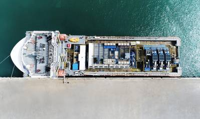An aerial view of one of the new vessels acquired by OFCO. (Photo: Abu Dhabi Ports)