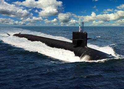 An artist rendering of the future U.S. Navy Columbia-class ballistic missile submarines. The 12 submarines of the Columbia-class will replace the Ohio-class submarines which are reaching their maximum extended service life. It is planned that the construction of USS Columbia (SSBN-826) will begin in in fiscal year 2021, with delivery in fiscal year 2028, and being on patrol in 2031. (Illustration: U.S. Navy)