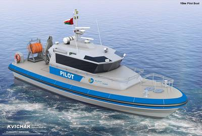 An artist's rendering of the pilot boat (Photo by Kvichak Marine Industries)