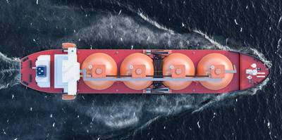 An LNG Tanker Illustration - Credit: alexlmx/AdobeStock