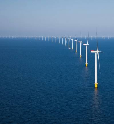 An offshore wind farm: Image courtesy of Siemens