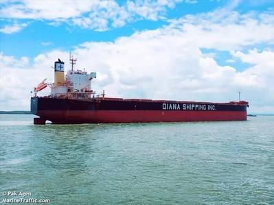 Diana Shipping's Myrsini Carrier - Credit:Pak Agen/MarineTraffic.com