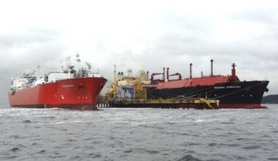 Angolan LNG arrival: Photo credit Angola LNG