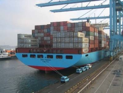 'Anna Maersk' in Port: Photo credit Maersk Line