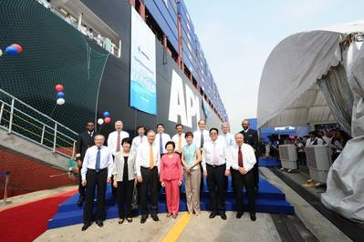 APL Temasek Naming Ceremony: Photo credit NOL