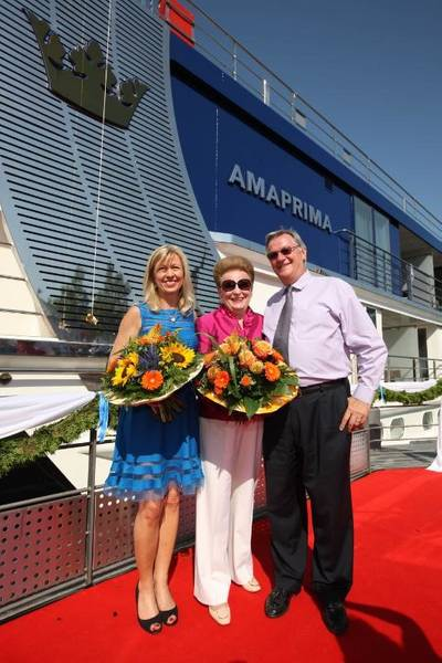 AmaPrima Christening Ceremony: Photo credit AmaWaterways
