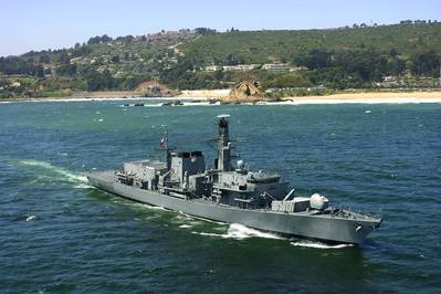 Armada de Chile's Almirante Lynch, one of three Type 23 frigates that will undergo a Combat Systems Highway upgrade. Photo courtesy of Armada de Chile Photo Cohort plc