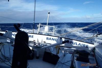 Armel Le Cléac'h: Photo credit Vendée Globe/Banque Populaire