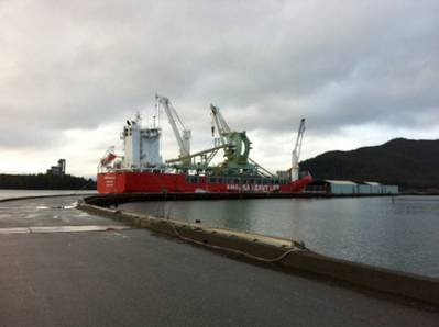 Arrival HHL Macao: Photo credit Port Rupert Authority