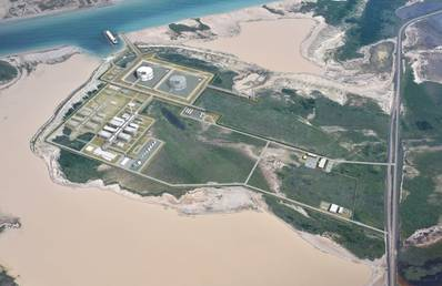 Artist impression depicts Texas LNG's planned liquefaction facilities (Image: Texas LNG Brownsville LLC)