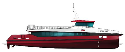 Artist impression WDR catamaran (Photo: Radio Holland)