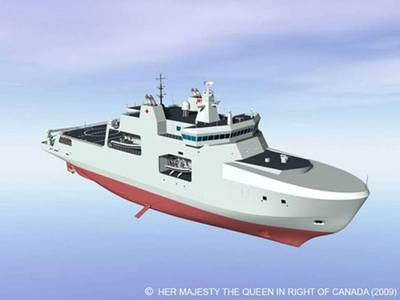 Artist rendering of the definition design for Arctic/Offshore Patrol Ships