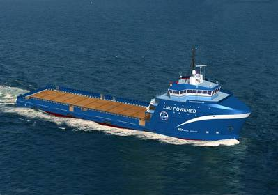 Artist's Depiction: LNG powered Offshore Supply Vessel