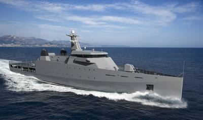 Artist's impression of the Damen 1800 OPV  (Photo: Damen)