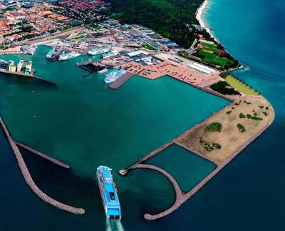 Artist's impression of the new port (© Port of Ystad)