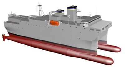 Artist's rendering of the new T-AGOS vessel (Image: Halter Marine)