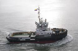 ASD Tug 2810 was built at Damen Shipyards Galati (Romania) and is currently underway to Venezuela (Photo: courtesy Damen).