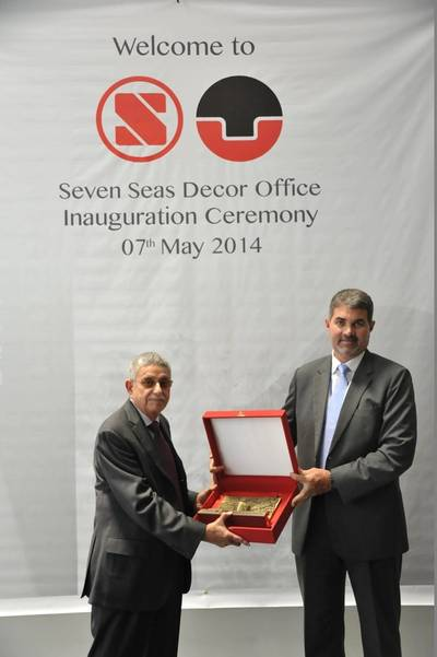 ASRY Chief Executive Nils Kristian Berge and Seven Seas Chairman Freddy Sidhwa inaugurate the new facility (Courtesy ASRY)