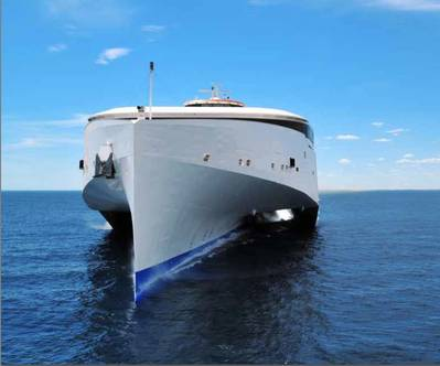 Austal Trimaran: Photo credit Austal