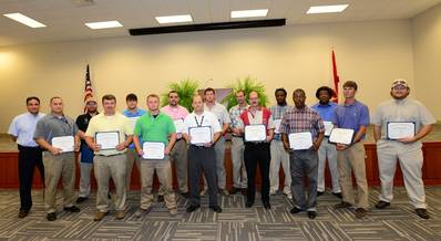 Austal USA honored 15 graduates of Austal's cutting-edge four-year apprenticeship program.