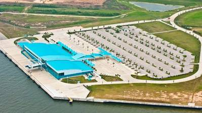 Bayport Cruise Terminal: Photo credit Port of Houston Authority