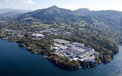 Bergen Engines plant in Hordvikneset near Bergen, Norway (Photo: Rolls-Royce)