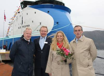 'Blue Prosper' Naming Ceremony: Photo credit Ulstein
