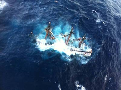 'Bounty' Sinking: Photo credit USCG