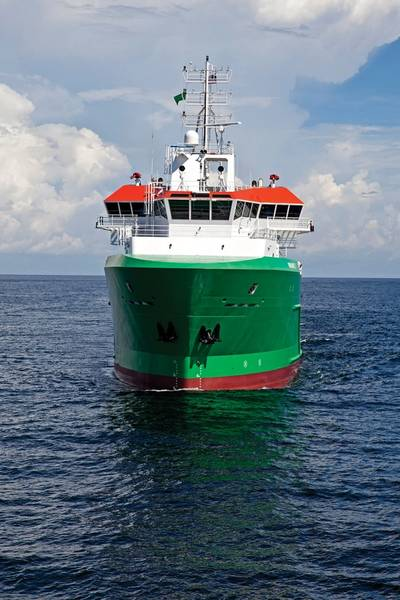 Brazil-bound Platform Supply Vessel (PSV) is first of five to the STX SV290 design; Eastern-built, Cummins powered