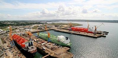 Brest Shiprepair Yard: Photo courtesy of Damen