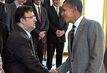 Briseno Meets President Obama: Photo credit ONR