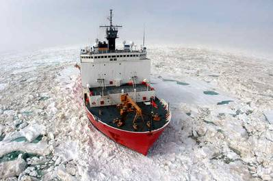 Built by Ingalls in 1999, USCGC Healy is the U.S.' newest icebrekaer (Photo: USCG)