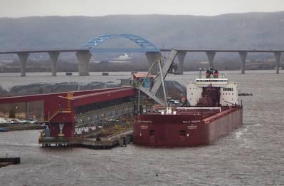Bulk carrier vessel Paul R. Tregurtha at Superior Midwest Energy Terminal on December 14, 2015. (Photo:  Chris Mazzella)