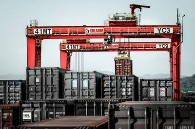 Cargotec company Kalmar is to supply RTGs to DP World for installation at the Nhava Sheva International Container Terminal in Mumbai, India.  (Photo: Cargotec)