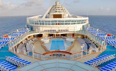 Caribbean Princess Lido Deck: Photo credit Princess Cruises