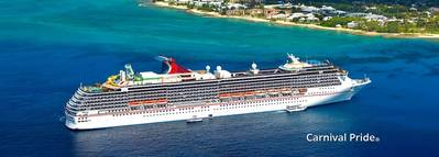 Carnival Pride Cruise Ship. Photo: Carnival Cruise
