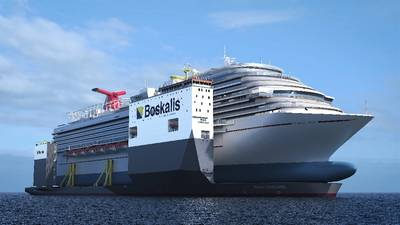 Carnival Vista on the Boskalis BOKA Vanguard Koninklijke Boskalis Westminster N.V. Photo: Royal Boskalis Westminster