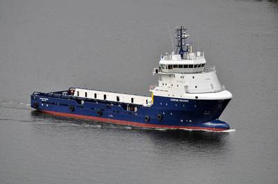 Caspian Provider, a 6,300 BHP platform supply vessel operating in Topaz's Caspian fleet
