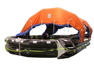 Ocean Safety's Zodiac 100-person commercial liferaft