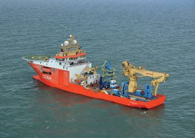Ceona's DP3 Multi-purpose Vessel, the Normand Pacific (Credit NCS Survey)