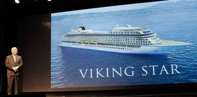 Chairman Torstein Hagen & Viking Star: Image credit Viking Ocean Cruises